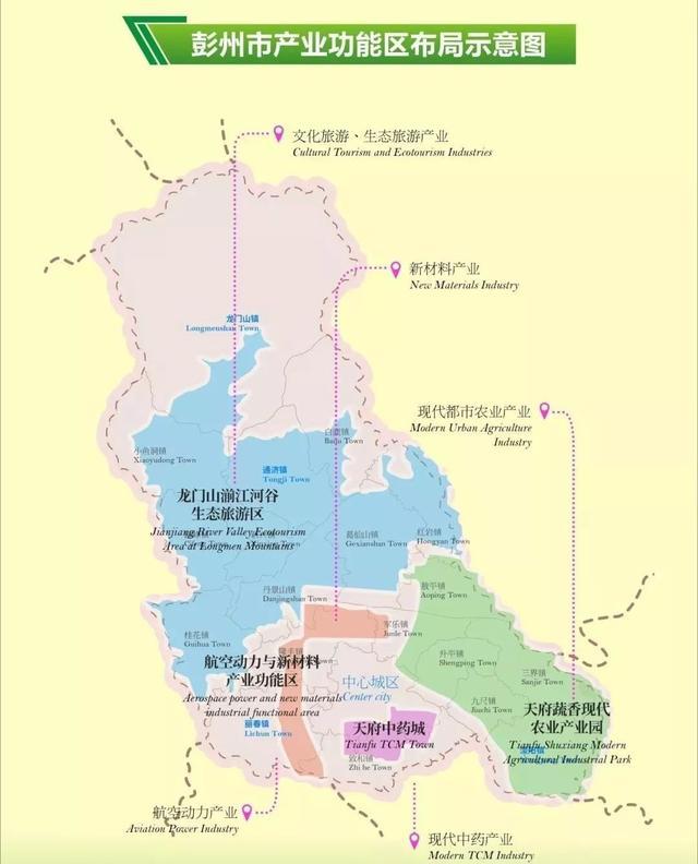 彭州两区规划图
